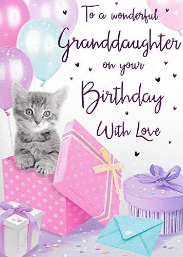 Tarjeta de cumpleaños para nieta – 9 x 6 pulgadas – Regal Publishing