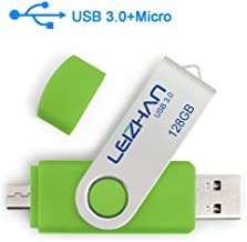 Phone Picture Stick 128GB, Micro-USB 3.0 USB Flash Drive for Samsung Galaxy S7/S6/S5/S4/S3/Note5/4/3/2/Meizu/HTC/Nokia/Moto/Huawei/Xiaomi,Green
