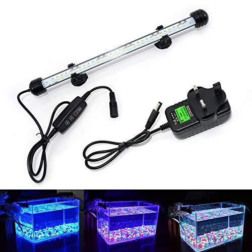 VARMHUS LED Aquarium Lighting, Aquarium Lamp White and Blue...