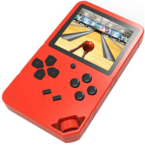 Douddy 16 Bit Handheld Game Console for Kids Adults Built in 220 HD Classic Electronic Games 3.0 Inches Screen USB Rechargeable Seniors Arcade Entertain Player (Red)