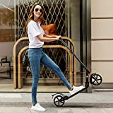 Trottinette Adulte Pliable Big Wheel Trottinette pour Adulte et Enfant, Freestyle Scooter 3 Réglable en Hauteur