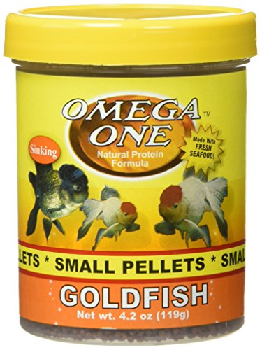 Omega One Goldfish Pellets, Sinking, 2mm Small Pellets, 4.2 oz