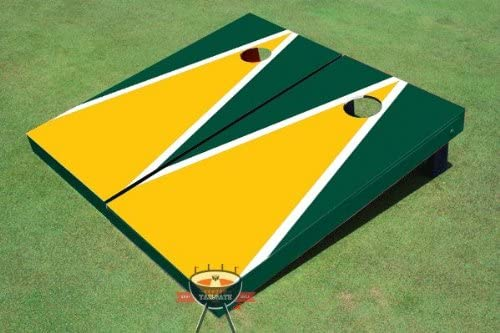 Custom Tailgate In a popularity Yellow and Dark Green Corn Matching Triangle Product Hol