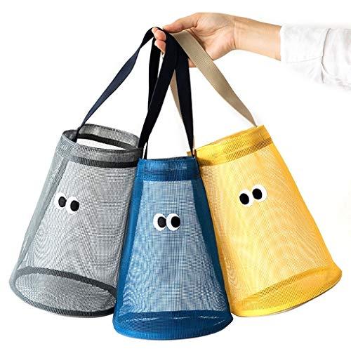 Chenguojian Torba plażowa z siateczki, torba na zakupy, wielofunkcyjna torba do przechowywania zabawek piaskowych Good Family Beach Holiday (3 szt.)