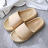 ypyrhh Sandalias Cómodo Casual Zapatos de Playa,Zapatillas de casa Antideslizantes, Fondo Suave Pareja Drag-Apricot_36 / 37,Zapatillas Flip Flops Sandal