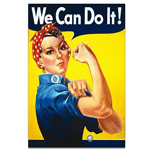 We Can Do It! Póster Podemos hacerlo Propaganda de la Segunda Guerra Mundial Rosie the Riveter Poster Tamaño A3