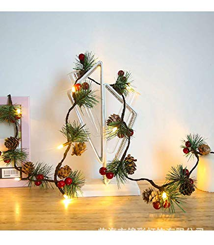 EMAPRUI Red Berry and Bells, Pine Cone Indoor Outdoor Fall Holiday Decor Thanksgiving Decorations Xmas Party