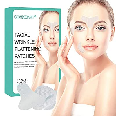 Facial Patches,Anti Wrinkle Patches,Facial Wrinkle Patches,Forehead Wrinkle Patches,Wrinkle Treatment Smoothing Wrinkle Patches Masks Pads for Men and Women