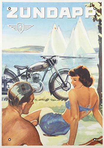 OSONA Zundapp Motos Retro Nostalgic Traditional Rust Farbe Zinn Logo Werbung Markante Wanddekoration Geschenk