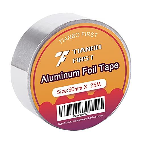 Aluminium Klebeband 50mm x 25m Aluband Alu-Klebeband hitzebeständig zum Abdichten und Dämmen Isolierband von TIANBO FIRST
