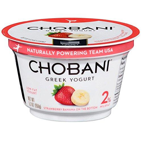 Chobani Strawberry Banana on the Bottom Low Fat Greek Yogurt, 5.3 Ounce -- 12 per case