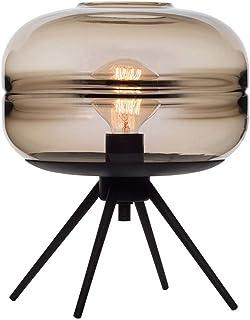 SMEJS Lámpara de Mesa lámpara de Escritorio Industrial Vintage con Cable enchufable Interruptor de Encendido y Apagado So...