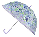 Lilly Pulitzer Women's Purple/Blue/Green Large Dome Umbrella, Shell of a Party