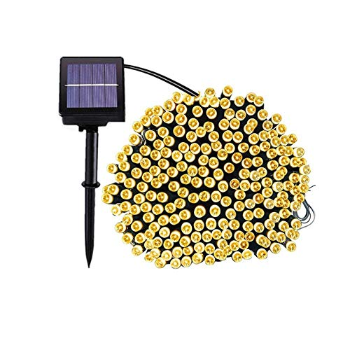 NXWL Outdoor String Lights 20M/30M/50M Solar LED String Light Outdoor Garden Christmas Street Party Wedding Solar Fairy String Garland Light Garden Decor (Color : Warm White, Size : 22M 200LEDS)
