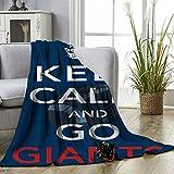 Elxmzwlob New York Giants Manta de felpa de tamaño doble American Tootball Team Manta de franela de lujo cálido suave mantas que mejoran el sueño 60 x 203 cm