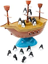 MLMHLMR Toy Balance Penguin Pirate Ship Board Game Intelligence Interactive Leisure Toy Kids Toys