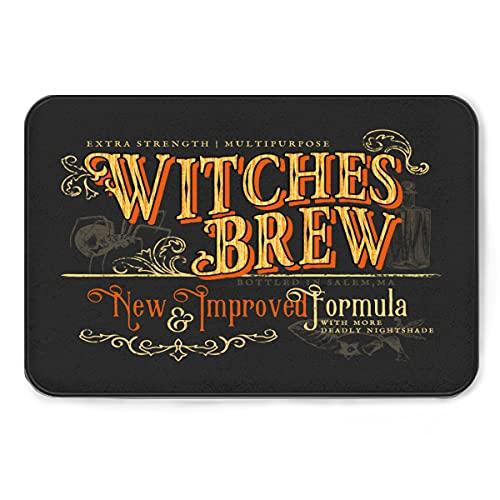 Witches Brew - Alfombrilla de baño de espuma viscoelástica, antideslizante en el interior de la alfombra de absorción de agua, suave y lavable para el baño, cocina, pasillo, 24 x 36 pulgadas