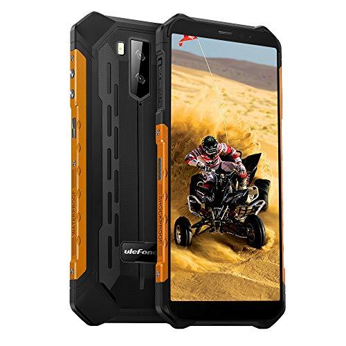 Ulefone Armor X5 (2020) 4G Android 10 Handy Smartphones, 32GB Speicher 3GB RAM 5000mAh Akku Smart Button wasserdichte Kamera, Unterwassermodus, Handschuhmodus, 5,5 Zoll, Face WiFi GPS FM Orange