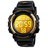 Birthday Presents Gifts Idea for 4-12 Year Old Boys, Kids Gold Digital Sports Waterproof Outdoor Analog Electronic Watches with Alarm Stopwatch, Children Gifts Toys for Age 4-12 Year Old Boys Girls