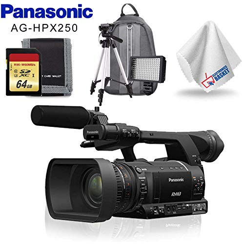 Check Out This Panasonic AG-HPX250 P2 HD Handheld Camcorder + Memory Card Kit + LED Light + Backpack...