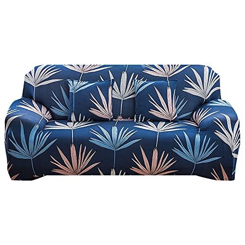 WXQY Funda de sofá elástica elástica, Funda de sofá de Esquina en Forma de L para Sala de Estar, Funda de sofá de Spandex, Funda de Polvo Lavable A7 de 3 plazas