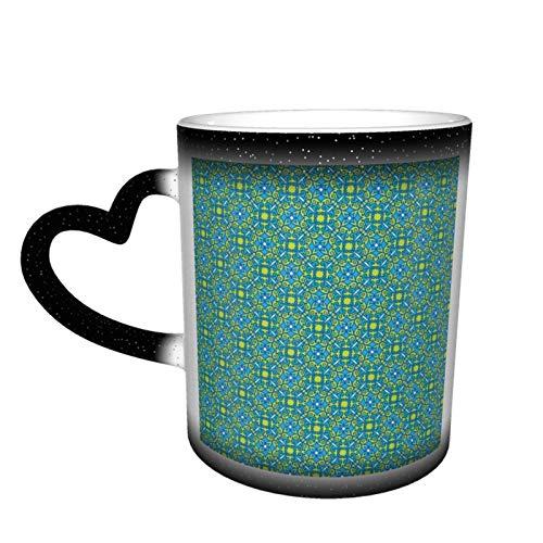 Madrid Aqua Taza mágica termómetros sensibles al calor sensible 11 oz cerámica café té tazas taza taza divertido regalo de cumpleaños
