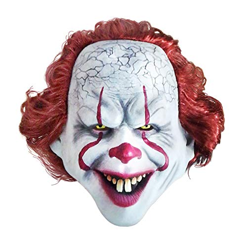 2019 Maschera Joker Maschera da Clown Horror Cosplay Film Festa per Adulti Mascherata Lattice di Gomma Maschere da Clown Spaventose per Halloween