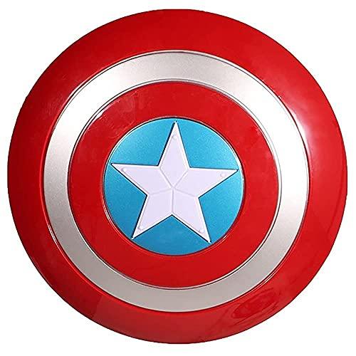 KDDEON Accesorios de Disfraz Retro de Cosplay de plástico con Escudo de Capitán América, Accesorios de Escenario con Luces, Regalo de Mano de los Vengadores para niños de 32 cm