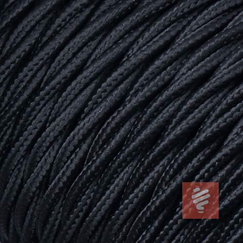 Textilkabel für Lampe, verseilt (geflochten), dreiadrig - 3x0,75mm², Schwarz - 10 Meter