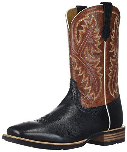 ARIAT - Herren-Western-Schuhe von Quickdraw Western, 43 M EU, Black Deertan/Washed Adobe