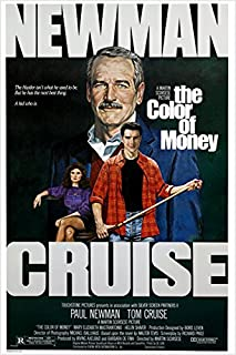 HSE The Color of Money Vintage Movie Poster Paul Newman & Tom Cruise Pool 24X36 (Reproduction, not an Original)