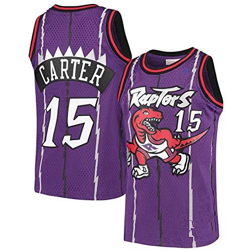 Baloncesto Jersey De Los Hombres De La NBA Toronto Raptors De Vince Carter 15 Formación Jeugd Deporte Ademend Kleding Purple-XL