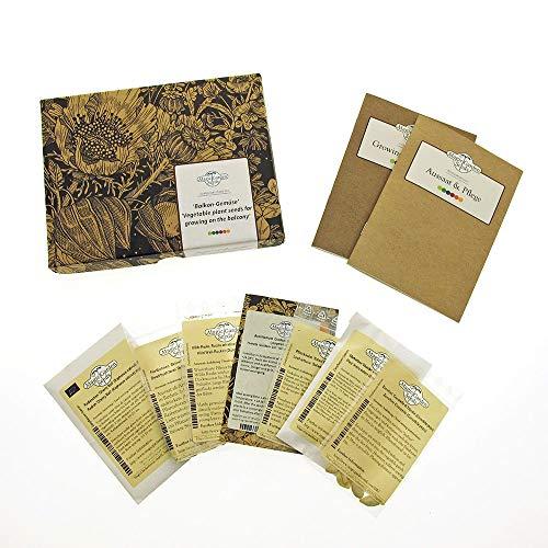 Balkon-Gemüse - Samen-Geschenkset mit 7 Sorten für den Anbau in Töpfen auf kleiner Fläche