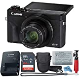 Canon Powershot G7X Mark III Point & Shoot Digital Camera + Accessory Bundle + Inspire Digital Cloth