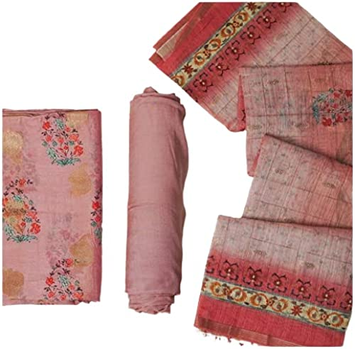 FABRIC HUB Women s Cotton Salwar Suit With Embroidery Work Dupatta Unstitched Dress Material 28