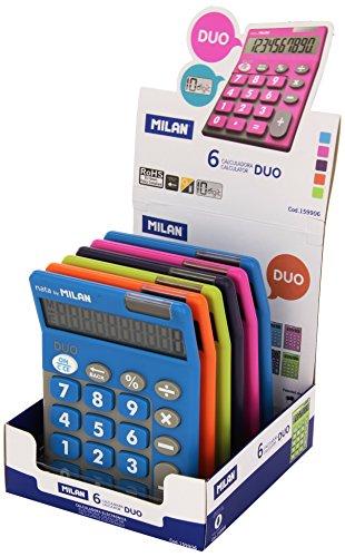 Milan 159906 rekenmachine, 10 cijfers, meerkleurig