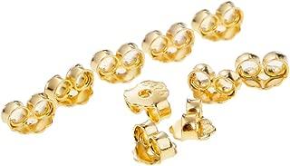 0,75mm NKlaus Set 2x1 Paar 333 Gelbgold 8 Karat Gold 5,5mm Gegenstecker f/ür Ohrstecker Ohrringe Ohrstopper Pousetten Ohrmutter Butterfly Schmetterling Verschluss Loch