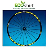Ecoshirt 2K-L69Y-JC1E Pegatinas Stickers Llanta Rim Progress Xcd EVO Am44 MTB Downhill, Amarillo 29'