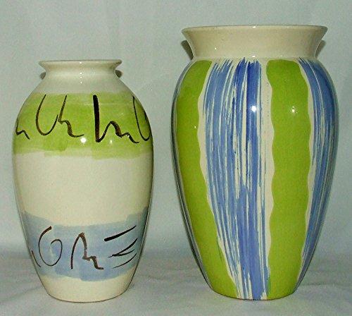 Unbekannt Vase grün blau 2tlg.