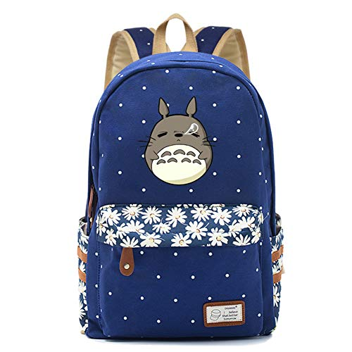 Double Villages Anime My Neighbor Totoro Cosplay Daypack Bookbag College Tasche Rucksack Schultasche (Blau)