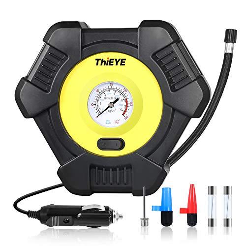 UTRAI Auto Luftpumpe Elektrisch 12V Autoreifen Pumpe tragbarer Druckluft Mini Kompressor für Auto, Fahrrad, Motorrad, Ball