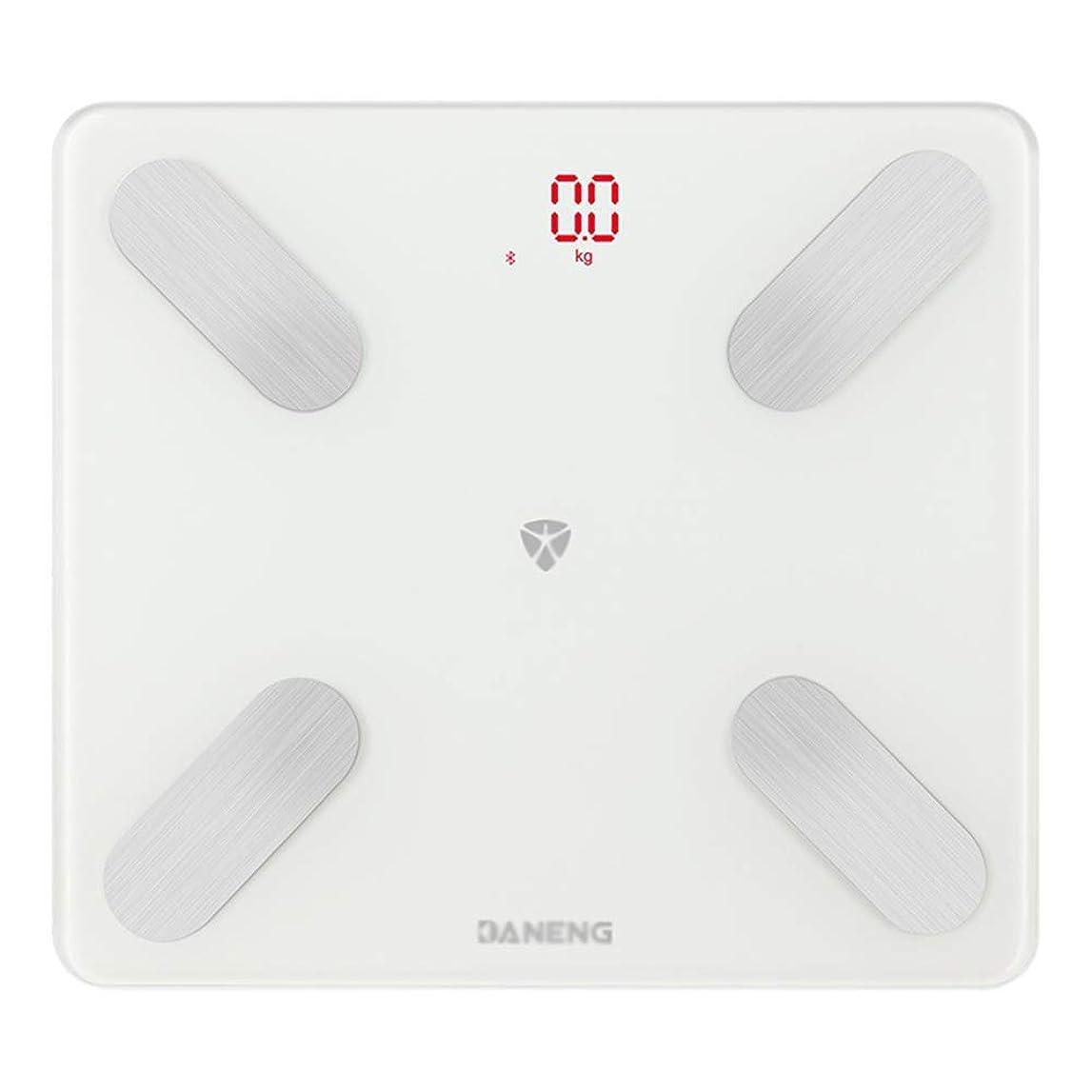 ファンド水陸両用キャラクタースマートBluetooth体脂肪計、 USB充電 デジタルバスルームスケールを測定する高精度健康スケールBMI体組成計、LCDバックライトディスプレイ