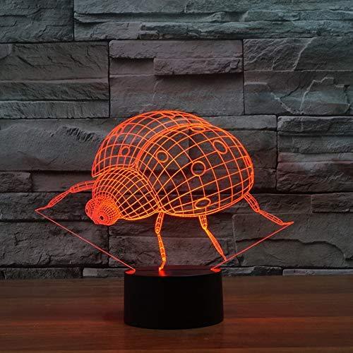 Luz de noche 3D con forma de avión, 7 colores que cambian, atmósfera creativa, lámpara de mesa Led de avión, foco, juguetes de regalo para niños