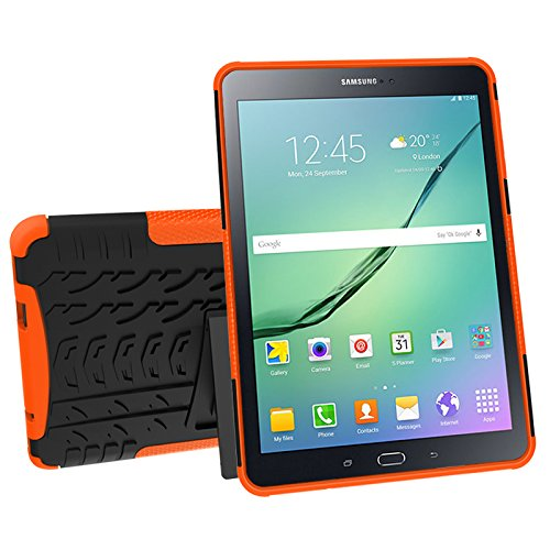 Galaxy Tab S2 9.7 (SM-T810 / T815 / T813) Case, YMH Full-Body [Heavy Duty] & [Shock Proof] Hybrid Armor Protective Silicone Case with Kickstand for Samsung Galaxy Tab S2 9.7 (8)