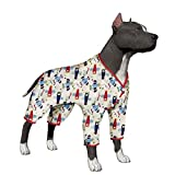 LovinPet Large Dog Clothes Dog Shirt Post Surgery Wear Cotton Airplane Big Dog Pajamas for Pitbulls Labrador Retriever Boxer Large Dogs (Please Read Description)