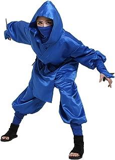 Men's Blue Ninja Costume Outfit Uniform