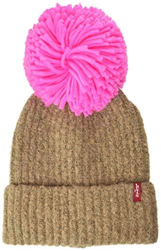 Levi's Damen Women's Pom Beanie Ohrenschützer, cremefarben, One Size
