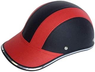 Anself Summer Motorcycle Half Helmet Baseball Cap Helmets for Men and Women Personality Lightweight Half Open Face Helmet
