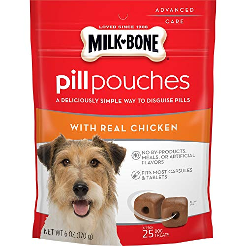 Milk-Bone Pill Pouches Dog Treats, Real Chicken Flavor, 6 Ounces (Pack of 5)