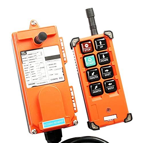 Crane Industrial Radio Control remoto Interruptores inalámbricos Hoist Crane Control Lift Crane para Crane F21-E1B 220V380V110V 12V24V,AC 220V,VHF 310-331Mhz